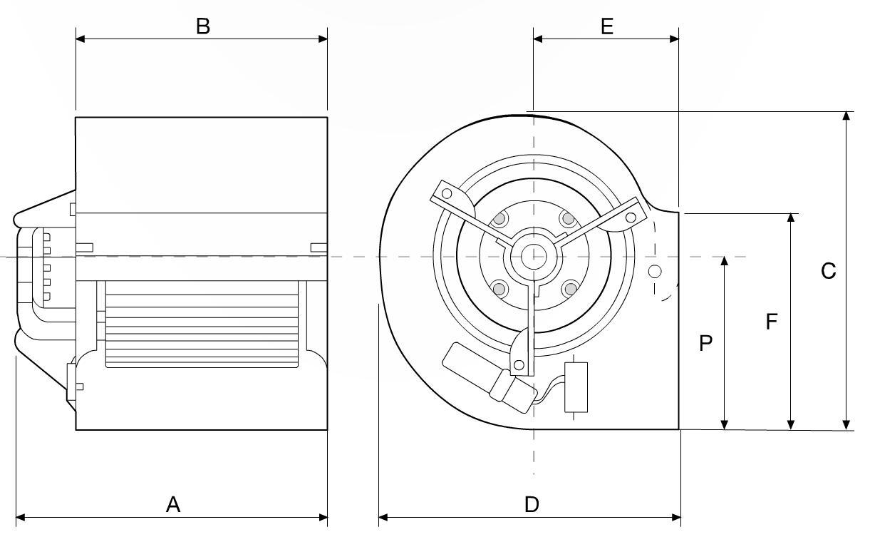 Medidas motor ventilador